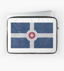Indianapolis City Flag/Map Laptop Sleeve