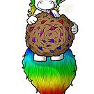Cookie Derpicorn: Full Rainbows by MeaKitty