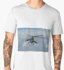 Mi-24 'Hind' Helicopter Gunship (II) Men's Premium T-Shirt