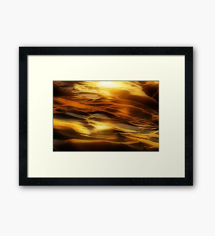 Rock Waves Framed Print