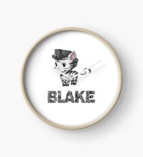 Zebra Blake Clock
