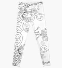 57 Decoration on white Leggings