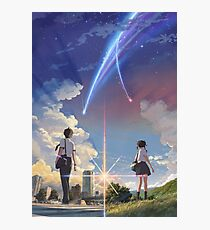 Kimi no na wa poster high quality Photographic Print