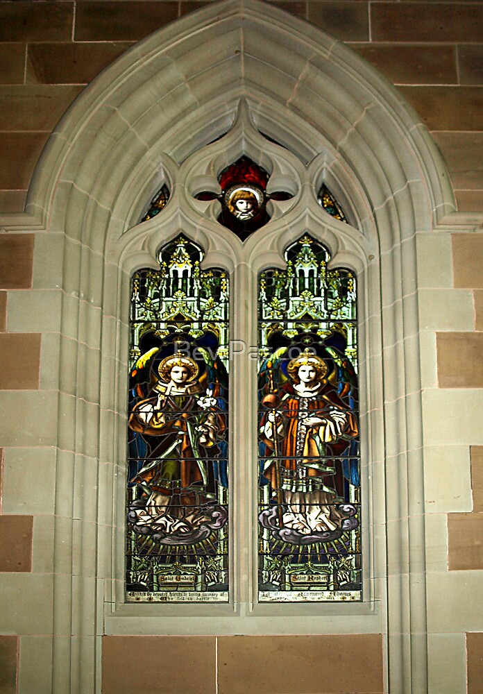 Stained Glass Window - St.David's Anglican Cathedral, Hobart by Bev Pascoe