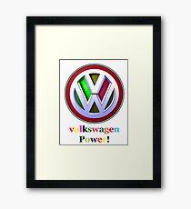 volkswagen Power Framed Print