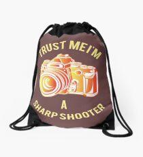 I am a Sharp Shooter Drawstring Bag