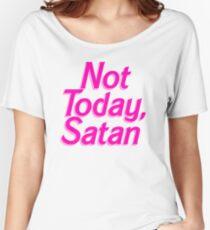 Not Today Satan Barbie - Funny Satan Barbie Parody Sticker T-Shirt Pillow Women's Relaxed Fit T-Shirt
