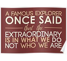 extraordinary Poster