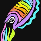 Deep-sea Neon - Tribalish Cuttlefish by vaguelygenius