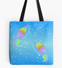 Deep-sea Neon - Tribalish Cuttlefish Tote Bag