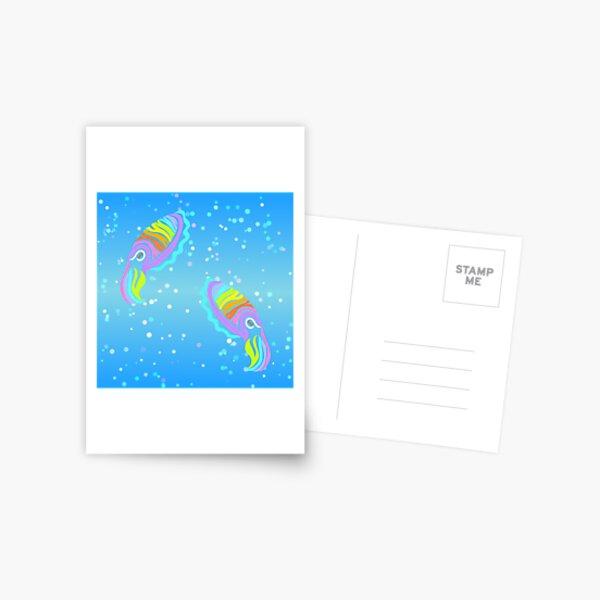 Deep-sea Neon - Tribalish Cuttlefish Postcard