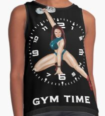 Gym Time White letter Contrast Tank