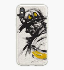 The Firefighter in Thought iPhone Case