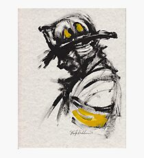 The Firefighter in Thought Photographic Print