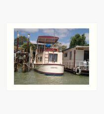 Old River Boat. Art Print