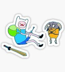 Skyrim Adventure Time Sticker