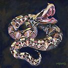 Gaboon viper painting by Marion Yeo