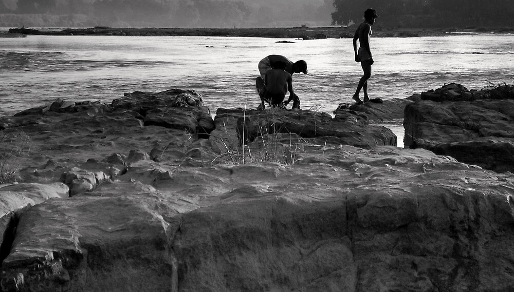 Boys in the river by nisheedhi