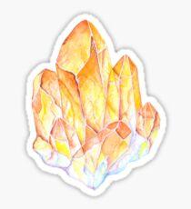 Pegatina Topacio amarillo Piedra de gema de acuarela