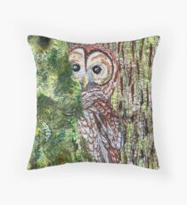 Silence In Trees Throw Pillow