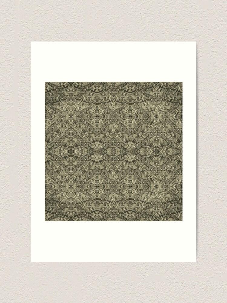 Alternate view of Kaleidoscope Vintage Endpaper (sepia) Art Print