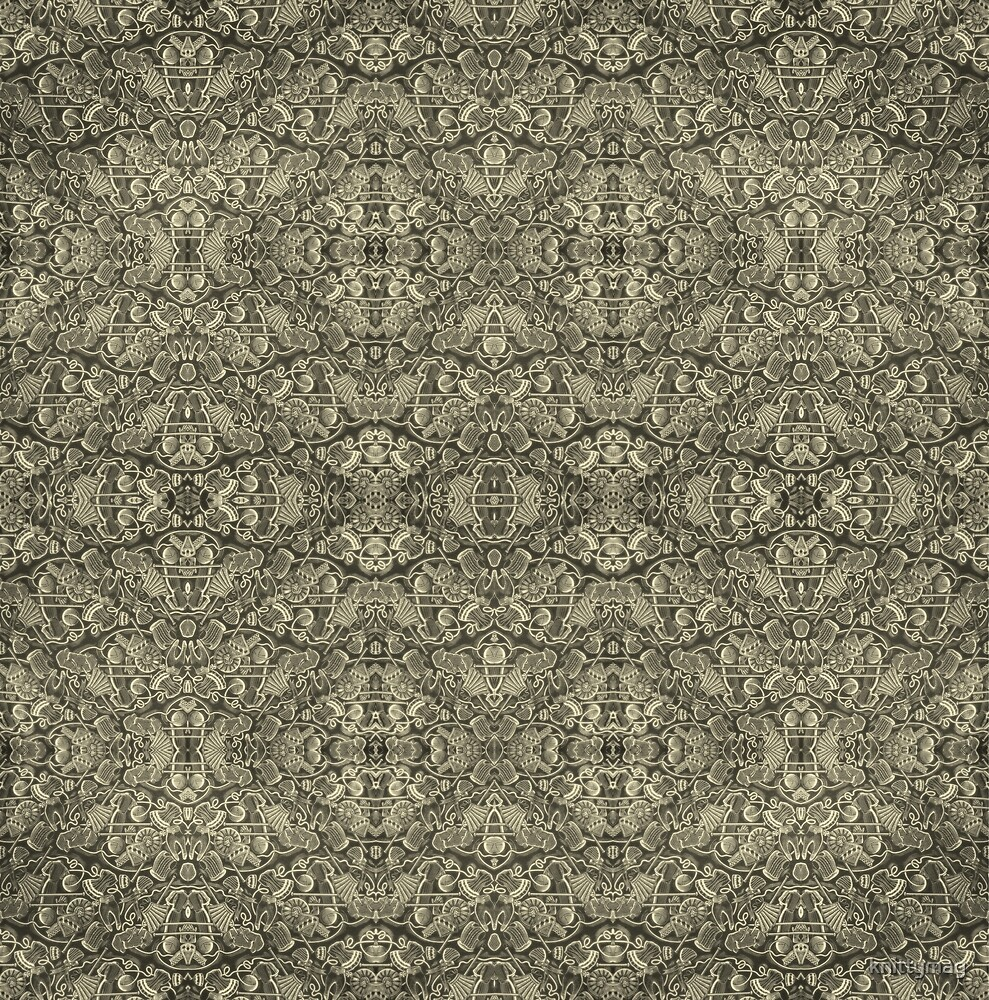 Kaleidoscope Vintage Endpaper (sepia) by knittymag