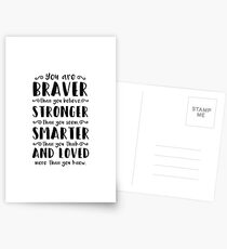 You Are Braver Than You Believe Winnie The Pooh Postcards