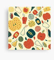 Autumn apples Canvas Print