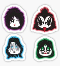 Kiss faces (band) Sticker