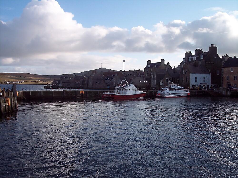 Quiet harbour scene by Twscats