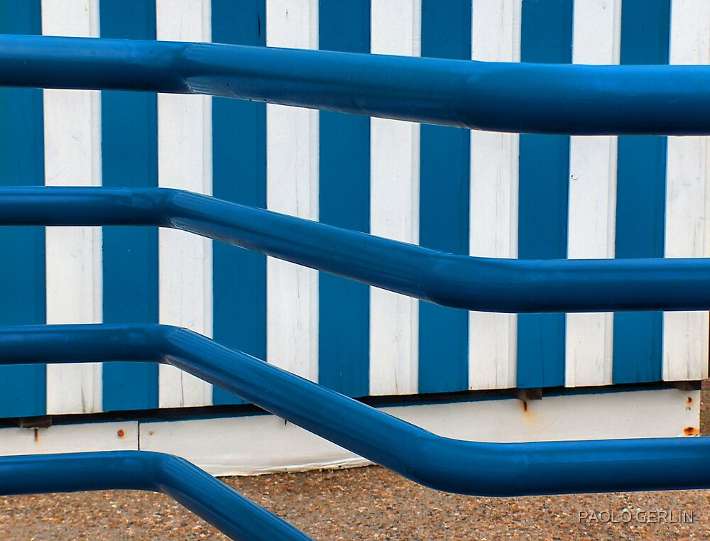 Blue lines by PAOLO GERLIN
