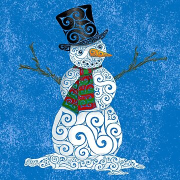 Swirly Snowman by CarolinaMatthes