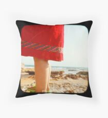 Day at the Beach Throw Pillow