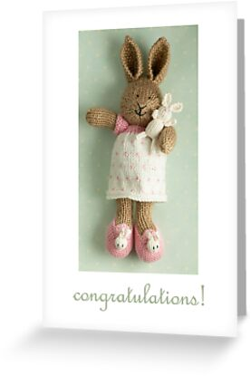 congratulations (featuring Honey & Pip) by bunnyknitter