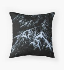 Winter Dark Throw Pillow