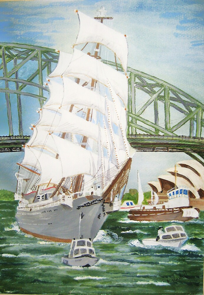 Polish boat in Sydney by Barbara Maderak