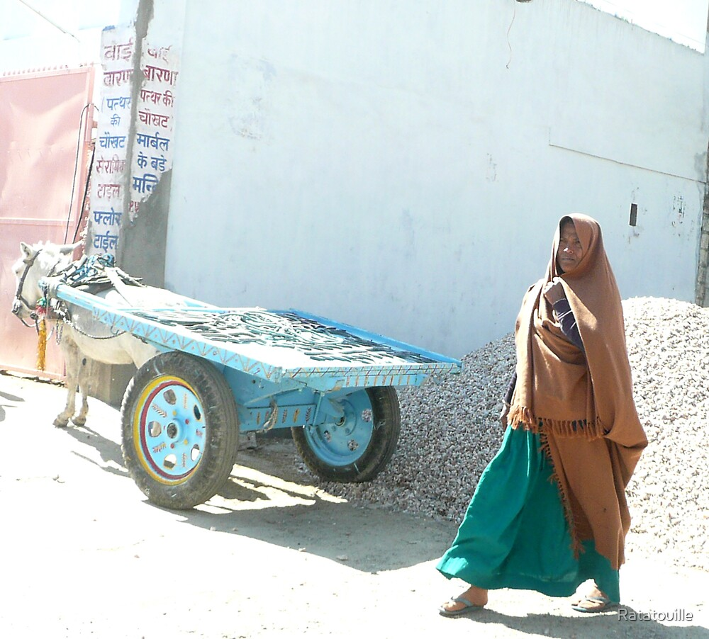Woman in Jaipur by Ratatouille