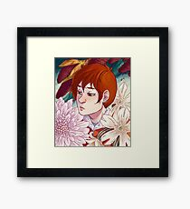 Rynne + Flowers Framed Print