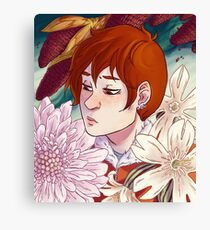 Rynne + Flowers Canvas Print