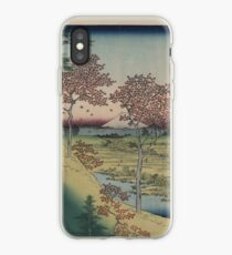Sunset Hill, Meguro in the eastern capitol - - Japanese pre 1915 Woodblock Print iPhone Case