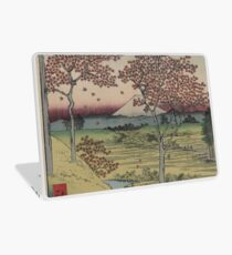 Sunset Hill, Meguro in the eastern capitol - - Japanese pre 1915 Woodblock Print Laptop Skin