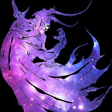 -FINAL FANTASY- Final Fantasy IV Galaxy Logo by WubbaDubb
