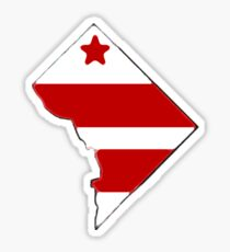 Washington, District of Columbia Map with District Flag Sticker