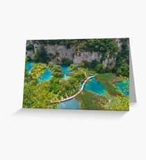 Plitvice lakes, National park, Croatia Greeting Card