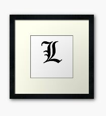 Old English L Tattoo - Cool Tattoo Sticker T-Shirt Pillow Framed Print