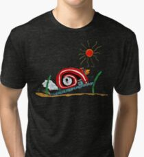 Diesel Powered Turbo Snail Tri-blend T-Shirt