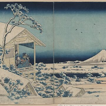 Snow at Koishikawa - Japanese pre 1915 Woodblock Print by ashburg