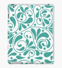 Playful turquoise leaves iPad Case/Skin