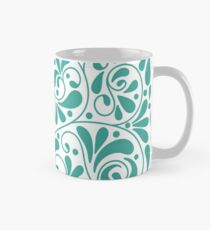 Playful turquoise leaves Mug