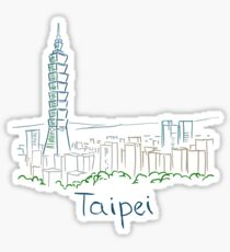 Taipei City Panorama Sticker